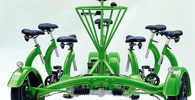 GeccoMobile sind einmalige Mehrpersonenfahrräder für jeweils bis zu 7 Personen.