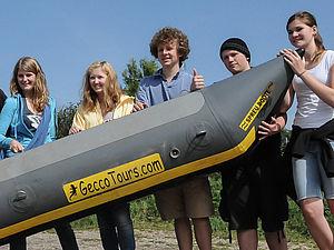 Floßbau als Klassenfahrt